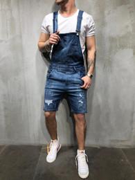 Pantaloncini in jeans xl online-Jeans strappati da uomo Pantaloni di jeans strappati Pantaloni di jeans da uomo