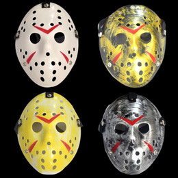 2019 jason voorhees costumi Maschere Jason Voorhees The 13th Horror Movie Hockey Mask Scary Halloween Costume Cosplay Party Festival Mask jason voorhees costumi economici