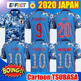 Giappone calcio online-2020 Japan Soccer Jersey Tailandia 20 21 Ozora capitano TSUBASA 10 # OLIVER ATOM Minamino KAGAWA Football Shirts Mens Kids kit numero del fumetto