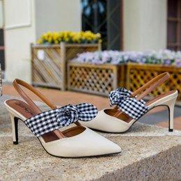 Sapatos abertos on-line-Sapatos Salto Alto Apontado Toe Mulheres de Verão Sandals Senhoras Slingback 2019 Branded Bombas Com Primavera Africano Abrir Últimas Closed