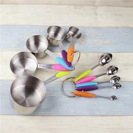 Tragbare küchenmessbecher 5 größen messmilchpulver löffel edelstahl messbecher und löffel set 2 sets ePakcet von Fabrikanten