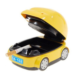 Caja con forma de coche online-En forma de 50pcs del coche del purificador eléctrico Cenicero portátil de purificación de productos Remover la caja de aire fresco de dibujos animados lindo al por mayor