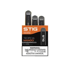 Canada Vgod Stig Pod Kit jetable de stylo de Vape 270mAh complètement chargé Batterie avec capacité de gousse de 1,2 ml gousses de mangue jetables de Kit E-Cig Offre