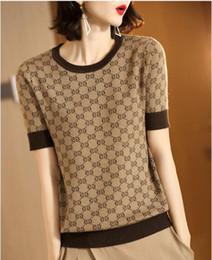 free crochet ponchos Rabatt Neue T-Shirts Frauen beschichten weibliches T-Shirt für Frauen-Sommer-strickende T-Shirts Spitzenhemd weibliches kurzes Hülsen-Unterhemd Cloting