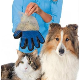 silicone free products Promo Codes - Silicone pet Brush Glove Pet Grooming Hair Cleaning Massage Glove Pet Dog Supplies Cat Dog Hair Cleaning Brush Comb 4 Colors Free Shipping