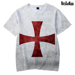 236b16809 knights templar T shirt 3D Print Basic kpop Cool Popular Kids Short Sleeve  casual hip hop Summer Fashion Boys Girls T-shirt kpop