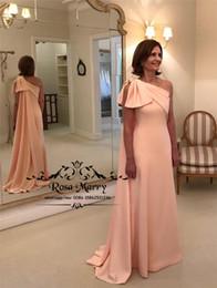 Más el tamaño atractivo de la sirena Madre de los vestidos de novia 2020 Un hombro Barato Satén largo Vestidos de fiesta de noche formales para madres desde fabricantes