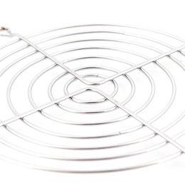 Wechselstromkühler online-Computer Lüfterhaube 120mm7 Ring Gehäuselüfter AC / DC Lüfter Edelstahl Sicherheitsabdeckung / Schutzabdeckung