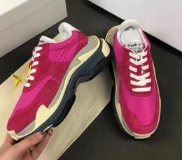 Tricotant des chaussettes pour hommes en Ligne-Nouvelle Arrivée 2018 Hommes Triple S Sneaker Noir Tricot Chaussette Haut Haut Sneaker Rouge Bordo Come Designer De Luxe Papa De Luxe Hommes Habillé Chaussures