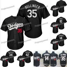 fernando valenzuela jerseys Rebajas Los Ángeles 10 Justin Turner Dodgers Jersey negro 14 Enrique Hernández 34 Fernando Valenzuela 35 Cody Bellinger 42 Jerseys Jackie Robinson