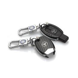 chave remota yaris Desconto Caso Shell da chave do carro da fibra do carbono para a chave FOB do Benz de Mercedes