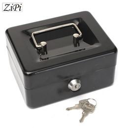 Contanti metallici online-Salvadanaio in acciaio inossidabile Zipi Petty Cash Lock di sicurezza in metallo con serratura Salvadanaio salvadanaio Creativo regalo di Natale a casa