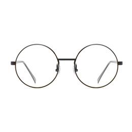2019 lunettes anti-radiations métalliques New Anti-Bleu Lunettes rétro Lunettes rondes Cadre métal plat Miroir pour hommes et femmes protection contre les rayonnements UV400 lunettes anti-radiations métalliques pas cher