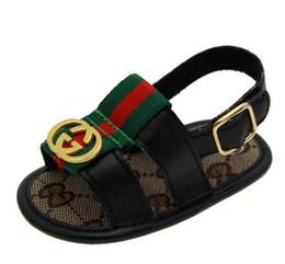 2019 enfants sandales d'été garçons Été bébé sandales nouveau style été enfants garçons pu premier marcheur chaussure bébé mode chaussures antidérapantes promotion enfants sandales d'été garçons