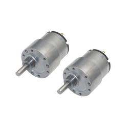 Canada 37GB-520 DC 12V 330rpm Micro-réducteur réducteur de vitesse de transmission électrique à arbre de sortie centrique pour kit de châssis de voiture robot intelligente cheap shaft gears Offre