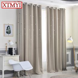 2019 stringa di paglia all'ingrosso Tende oscuranti moderni per soggiorno Camera da letto vuota finta camera da letto tende finestra per la camera da letto su misura