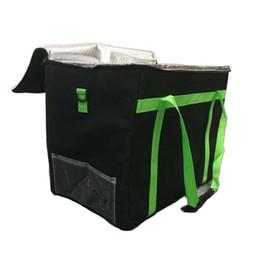 ngk stecker Rabatt 1 stück Pizza Delivery Bag Schwarz Isolierte Thermische Lebensmittel Lagerung Inhaber Pizzaboxen Pizza Delivery Bag