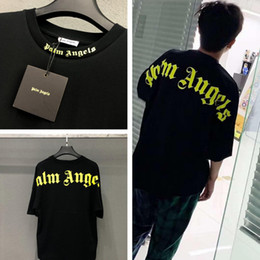 reißverschluss verlängern hemd männer Rabatt Palm Angels T-Shirt Männer Frauen 19ss Übergröße Streetwear Sommer Stil T-Shirt Hip Hop Palm Angels Vetements T-Shirt Top Tee