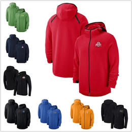 Felpa arancione con cappuccio maschile online-Mens Ohio State Buckeyes hoodie Syracuse Orange con cappuccio Felpe Oregon Ducks Marca Showtime Performancei full-zip con cappuccio NCAA