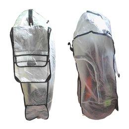 Transparenter stab online-Outdoor Reißverschluss Transparent Easy Clean Universal Regenschutz Schild Anti Staub Wasserdicht Rod Protector Golftasche Verschleißfest