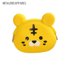 2017 nueva silicona de dibujos animados bebé monedero perro gato oso panda pato búho rana estilos muchos colores caramelo señora carteras niñas carteras desde fabricantes