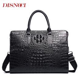 2019 крокодил из натуральной кожи сумки мужчины  Crocodile Pattern Mens Handbags Genuine Leather Men Business Briefcase Cowhide 14