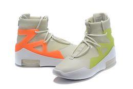 scarpe da ginnastica leggera adulti Sconti Men Fear of God 1 Scarpe FOG Basket Sneaker Stivali Light Bone Black Orange Sail Adulto bianco VERDE black fogs Scarpe da ginnastica us7-12