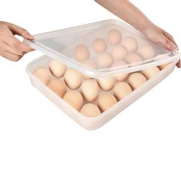Scatola di plastica dell'uovo online-Cartone per uova in plastica 24 Porta uova a griglia Scatole per alimenti a prova di polvere Contenitori per alimenti Contenitori per cucina Contenitori per cucina
