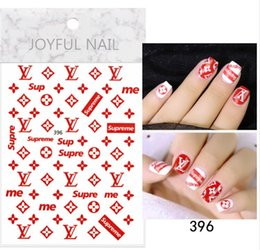 adesivi decorazione delle unghie Sconti Decorazioni unghie artistiche Adesivi LOGO Marca Nail Sticker Decalcomanie DIY Sticker Manicure Nail Art Decalcomanie LJJK1645