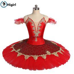 2020 vestidos de nylon personalizado Ballet Women Professional vestido Tutu Ouro Vermelho Adulto Classical Ballet palco de dança traje Desempenho Tutus Custom Made BT9173 desconto vestidos de nylon personalizado