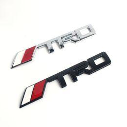 Argentina Etiqueta engomada negra del pegamento de la etiqueta 3M del emblema de la insignia del coche TRD del metal TRD de la astilla 3D para Toyota Suministro