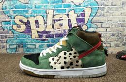 Le misure dei pattini del cane online-2019 Nuovo arriva SB Dunk High Dog Walker scarpe da basket di alta qualità per uomo nero verde scarpe da ginnastica progettista di marca sport sneakers TAGLIA 40-46