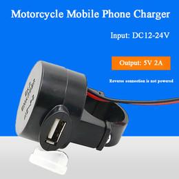 2019 cargadores hoverboard Scooter Motocicleta Cargador de teléfono móvil Adaptador Adaptador de enchufe USB Adaptador de accesorios USB Cargadores de coche USB DC12V 24V a DC5V 2A