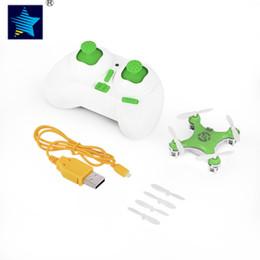 cx led Desconto Mini Cheerson CX-10 2.4G Verde Controle Remoto 4CH 6 Eixos Dedo Quadcopter Com Luz LED Controle de Rádio Modo de Aeronave Crianças brinquedos
