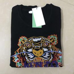 Hot di alta qualità da uomo donna ricamo tigre testa lettera pullover girocollo felpa marchio di moda tute jumper felpe con cappuccio giacca maglione da