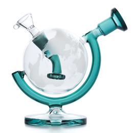 2019 пластмассовая пластмасса Глобус стекло Bongs Dab Рога Водопроводных трубы 5.7inches высокие бонги воды с стеклянной чашей стеклянной трубы дымовоотвода Ресайклер затяжками освобождают перевозку груза