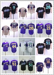 Jersey de beisbol negro barato online-Diamondbacks baratos 51 JOHNSON / 38 SCHILLING / Jerseys Gris púrpura Blanco Negro Vintage Retro Camiseta de béisbol Jerseys ¡Cosido de calidad superior!