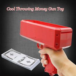 logotipos de dinheiro Desconto Caixa canhão dinheiro Gun Brinquedos Moda descompressão Brinquedos fazer chover dinheiro Toy Guns Com Logo Kids Brinquedos Atacado ALA710