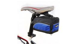 Asientos mtb rojos online-Sillines de bicicleta 3 colores negro rojo azul exterior deporte MTB Ciclismo trasero bolsas Mochilas alforjas