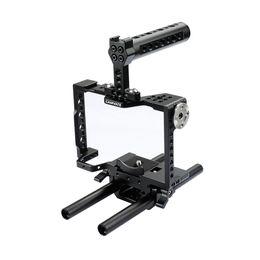 Ручка для установки камеры онлайн-CAMVATE Подставка для камеры с верхней ручкой, 15 мм, двойной стержень Для a7 II, a7R II, a7S a7 III, a7R III, a9 Серия C1998