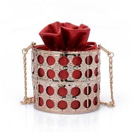 0f73185c4ffbf Iron Barrel Hollow Women Bag 2019 Summer Fashion New Handbag Women s  Designer Handbag Lady Portable Chain Shoulder Bag Hardware