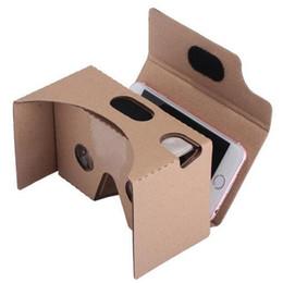 Ver google online-3D galsses DIY Cartón 2.0 VR Caja Google II Realidad virtual 3D Visualización de Google Cardboard II Gafas de visualización 3D para iphone 5 6 plus