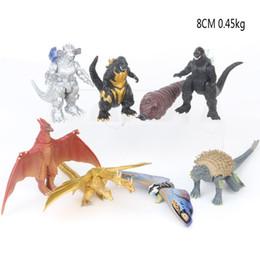 2019 mario lanyard al por mayor 8 Estilo Godzilla 2 Figuras de acción Juguetes de muñecas 2019 Nueva película para niños Godzilla: El rey de los monstruos dinosaurio monstruo Ghidorah Rodan mothra Juguete