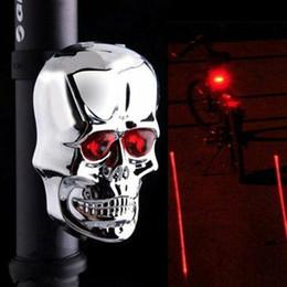 Luz da linha do laser on-line-Lanterna Traseira Do Laser do crânio de Bicicleta de Luz Equipamento de Bicicleta de Montanha Linha Laser Luz Traseira Da cauda do fantasma Luz LJJZ33