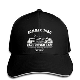 Camp Crystal Lake Logo Fashion Adjustable Cotton Baseball Caps Trucker Driver Hat Outdoor Cap Black