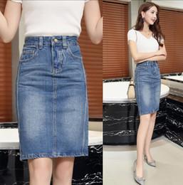 b9843833e 5 Fotos Faldas clásicas del lápiz en venta-Primavera Verano Mujer Jeans Falda  Moda Clásico de Cintura