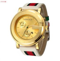Relógios reais on-line-Moda masculina 2019 novo relógio não-mecânico relógio de quartzo à prova d 'água grande mostrador do relógio dos homens da correia real 40 MM