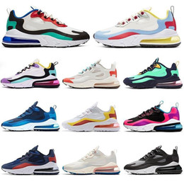 Saltos de ferro on-line-Nike air max 270 react airmax 270 Sports Designer Mens Running Shoes CNY do arco-íris do salto instrutor Road Star BHM Ferro Mulheres Sneakers Tamanho 36-45