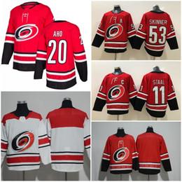 2018 2019 New Carolina Hurricanes Hockey Jerseys 20 Sebastian Aho Home Red  Blank 11 Staal  53 Jeff Skinner Stitched Jersey Free Shipping discount  carolina ... 8662c076e