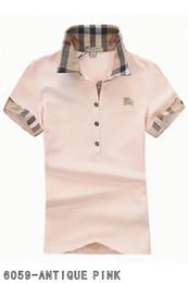 más el tamaño de las tapas de organza Rebajas 2019 Polos para mujer moda casual camisa de polo para mujer camisa de polo 8 colores s-2XL Camisetas blusa Mujer camiseta B010